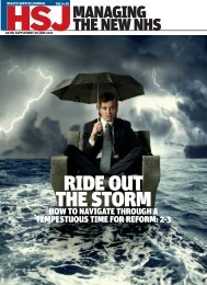 ride out the storm - Health Service Journal