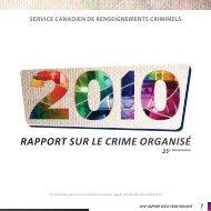 rapport sur le crime organisé - Service canadien de renseignements ...
