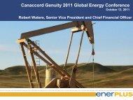 Canaccord Genuity Global Energy Conference - Enerplus