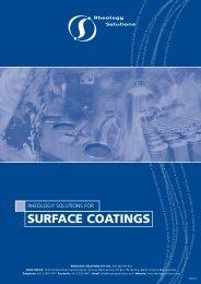 SURFACE COATINGS - Rheology Solutions