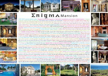 Enigma agent 6pager.indd - Enigma Mansion