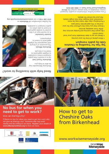 How to get to Cheshire Oaks from Birkenhead