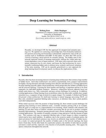 Deep Learning for Semantic Parsing