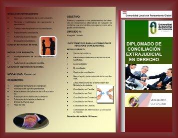 diplomado de conciliación extrajudicial en derecho - Universidad ...