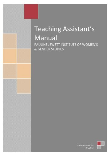 Teaching Assistant's Manual - Www3.carleton.ca - Carleton University