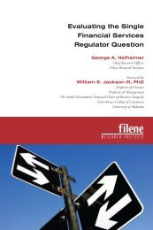 Evaluating the Single Financial Services Regulator Question