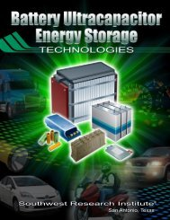 Battery Ultracapacitor Energy Storage Technologies - Southwest ...