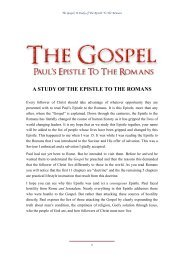 THE GOSPEL - Romans - Legana Christian Church