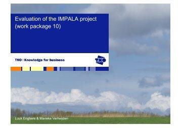 Evaluation of the IMPALA project (work package 10) - Impala-eu.org