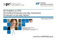 Detailbroschüre PR-Lehrgänge - KV Bildungsgruppe Schweiz