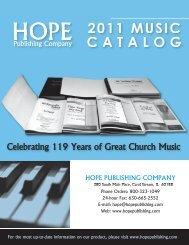 Choral Music - Hope Publishing Company