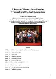 Tibetan - Chinese - Scandinavian Transcultural ... - Smedebøl.dk