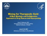 Mining for Therapeutic Gold - Advisory Committee to the Director