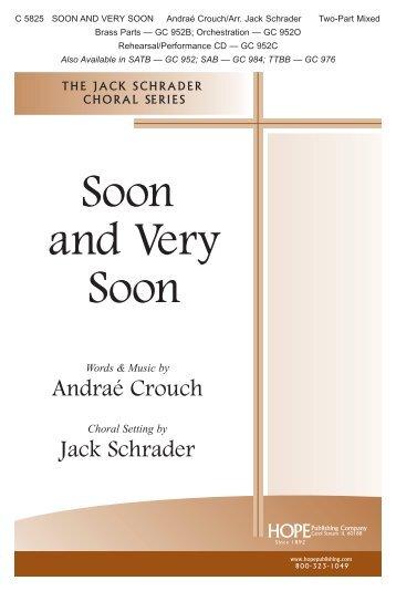 Soon and Very Soon - Hope Publishing Company