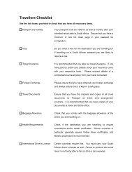 Travellers Checklist - World Travel