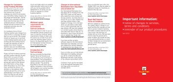 Download changes to terms and conditions - Royal Mail