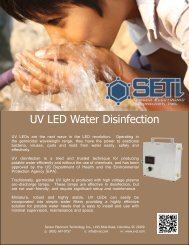 UV LED Water Disinfection - Sensor Electronic Technology, Inc