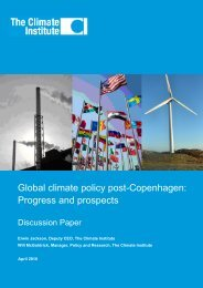Global climate policy post-Copenhagen: Progress and prospects