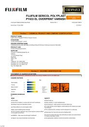 fujifilm sericol polyplast py433 el overprint varnish - FUJIFILM Australia