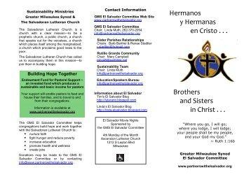 GMS Committee Brochure 2010 - Partners with El Salvador