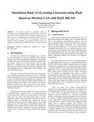 Simulation Study of elearning Classroom using ipads Based - CERC