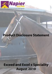 FINANCIAL SERVICES GUIDE of Napier Racing Pty Ltd