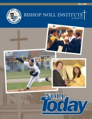 FALL 2009 - Bishop Noll Institute