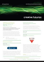 VET Research Forum - VETnetwork Australia