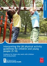 Interpreting the UK physical activity guidelines for children and ...