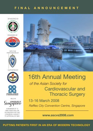 16th Annual Meeting - American Association for Thoracic Surgery