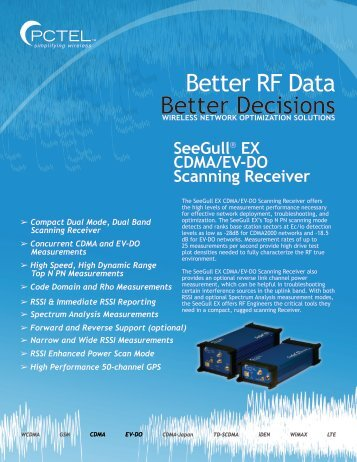 Better RF Data Better Decisions - PCTEL RF Solutions