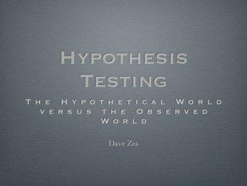Hypothesis Testing (pdf)