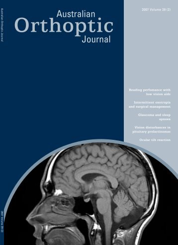 Reading perfomance with - International Orthoptic Association