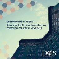 Overview for Fiscal Year 2012 - Virginia Department of Criminal ...
