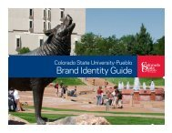 Brand Identity Guide - Colorado State University-Pueblo
