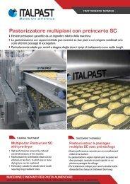 Pastorizzatore multipiani con preincarto SC - Italpast
