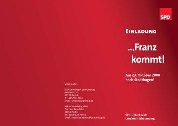 Einladung - pdf-Datei - SPD Unterbezirk Schaumburg