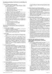Conditions générales d'achat de la société Baumer