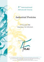 3rd International Advanced Course Industrial Proteins, 6-9 ...