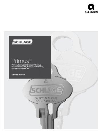 high security cylinders primus key control service manual rh yumpu com Car Restoration Manual Access Door