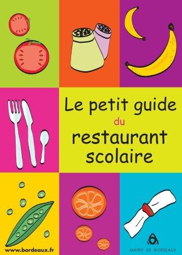 Petit guide de la restauration scolaire - Bordeaux