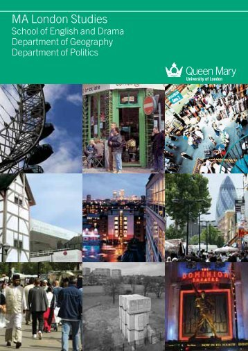 MA London Studies - School of Geography - Queen Mary University ...