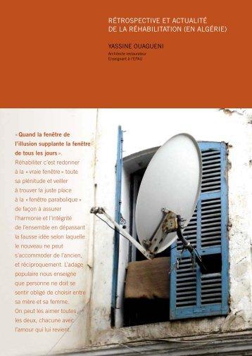 rétrospective et actualité de la réhabilitation (en algérie)