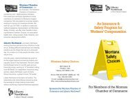 MSC - Brochure - Montana Chamber of Commerce