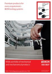 Premium products for every requirement – IKON locking systems ...