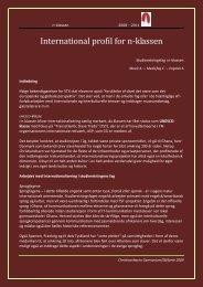International profil for n-klassen 2008-2011 - Christianshavns ...