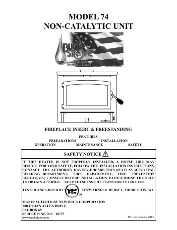 model 21 non cat buck stove rh yumpu com buck stove repair manuals old buck stove manual