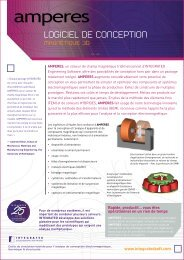 Fiche du Produit Amperes - INTEGRATED Engineering Software