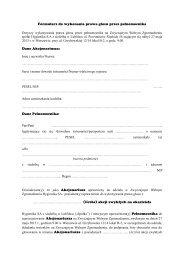 formularze do wykonywania prawa głosów na ... - Hygienika SA