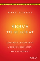 Serve to Be Great Sample Chapters